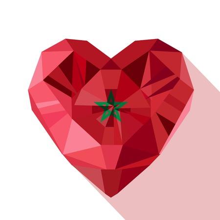 joya joyas de cristal del vector del corazón de Marruecos con la bandera del Reino de Marruecos. estilo plano del logotipo del símbolo del amor Marruecos. África del Norte. 18 de día de noviembre Independencia.