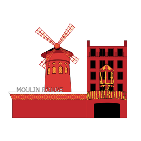 montmartre: Isolated vector illustration of The Basilica of the Sacred Heart of Paris.