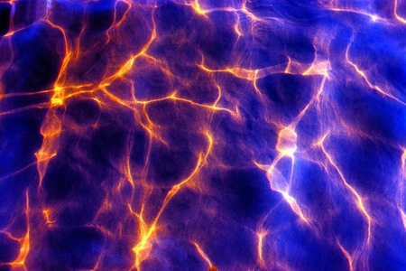 randomness: Background from chaotic light lines on water