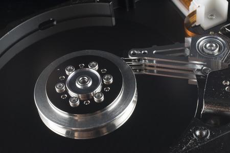 harddrive: Close up inside of Harddrive HDD