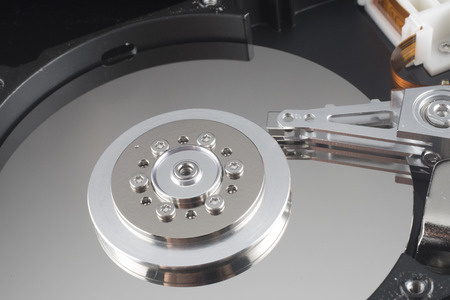 disclose: Close up inside of Harddrive HDD