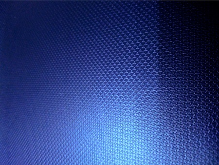 hued: Close up of blue leather interior