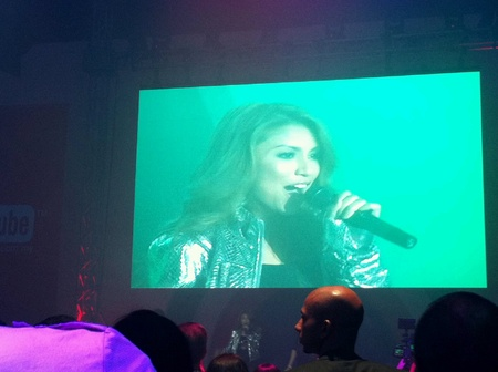 Mizz Nina performing at the launching of Youtube Malaysia at Zebra Square