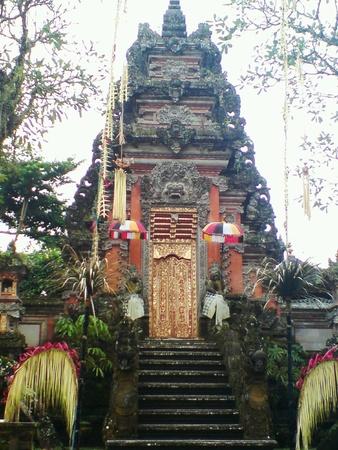 ubud: Temple in Ubud Indonesia Stock Photo