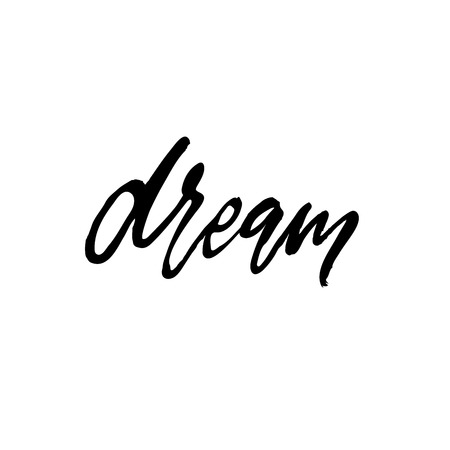 Dream lettering calligraphy style black beautiful word type