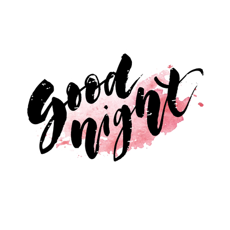 Good Morning Lettering Calligraphy Vector Text Phrase typography Type Watercolor