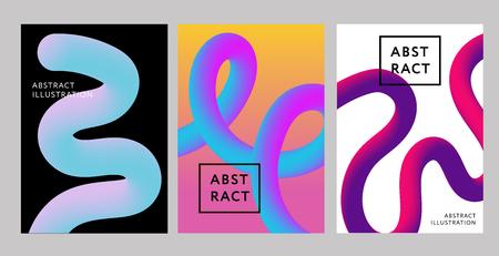 Abstract 2019 Creative design 3d flow shape Liquid Vector illustration