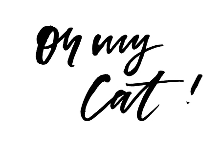 slogan oh my cat phrase graphic vector Print Fashion lettering