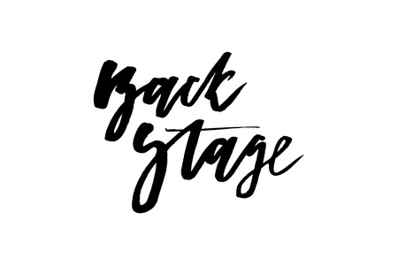 slogan backstage phrase graphic vector Print Fashion lettering