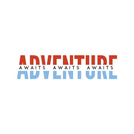 slogan ADVENTURE AWAITS phrase graphic vector Print Fashion lettering