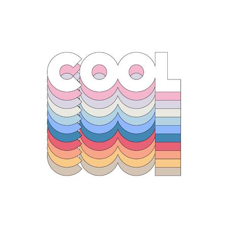 slogan COOL phrase graphic vector Print Fashion lettering Vector Illustration