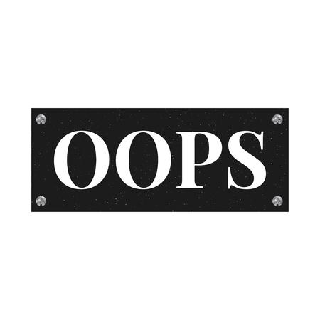 slogan OOPS phrase graphic vector Print Fashion lettering Stock Illustratie