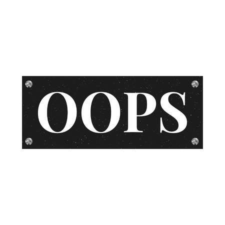slogan OOPS phrase graphic vector Print Fashion lettering Stock Illustratie