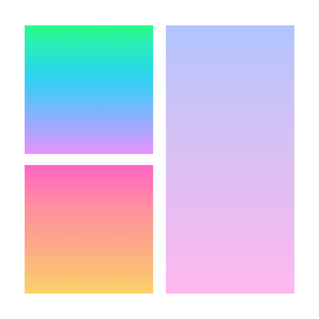 Set of abstract vector backgrounds blue, pink, purple and orange. Illustration Vector Illustration