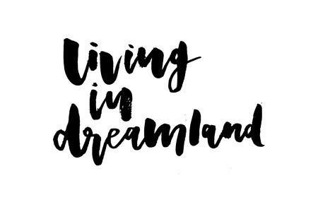 slogan Dreamland phrase graphic vector Print Fashion lettering