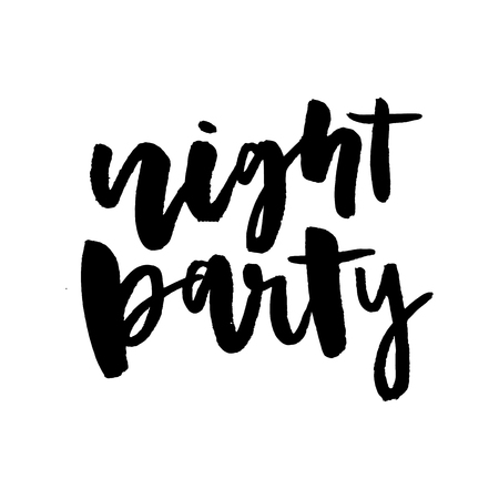 slogan Night party graphic vector Print Fashion lettering Vectores