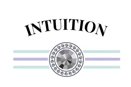 Slogan Intuition phrase graphic print fashion lettering