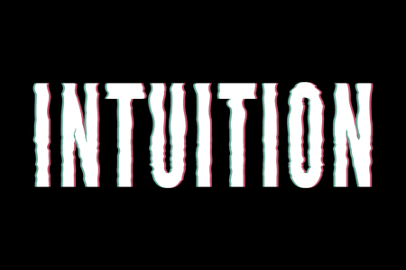 slogan Intuition phrase graphic vector Print Fashion lettering