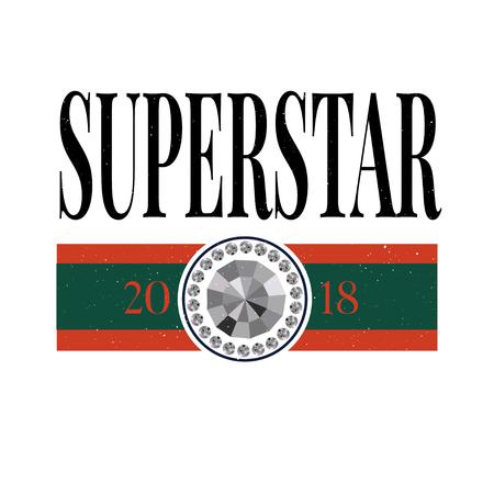 slogan Superstar phrase graphic vector Print Fashion lettering 版權商用圖片