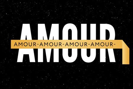 slogan Amour phrase graphic vector Print Fashion lettering Ilustração
