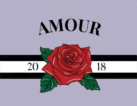 slogan Amour phrase graphic vector Print Fashion lettering Illustration
