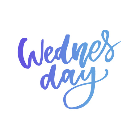 Wednesday. It s like a middle finger of the week. Brush Lettering Vector Illustration Design. Social media typography funny content. Fun for calendar template, planner, journal. Illustration