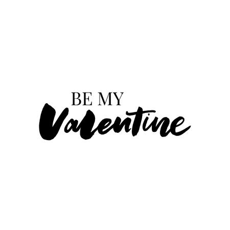 Seien Sie mein motivierender positiver Slogan der Valentinsgruß-Typografie mit Gänseblümchen-Sonnenblumenskecth, der modernen Mode-Slogan zeichnet Vektorgrafik