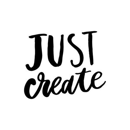 Just imagine. Inspirational quote, vector calligraphy. Black modern lettering isolated on white background