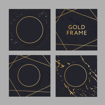 Banner with a design gold fashion vector