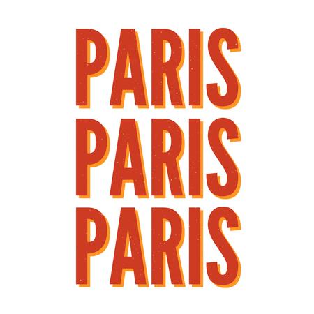 Paris skecth drawing modern Fashion Slogan for T-shirt