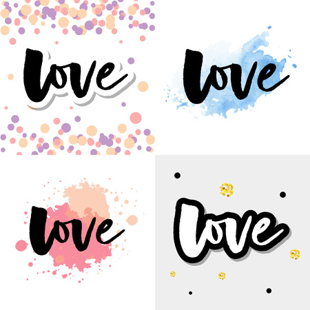Love logo vector lettering slogan