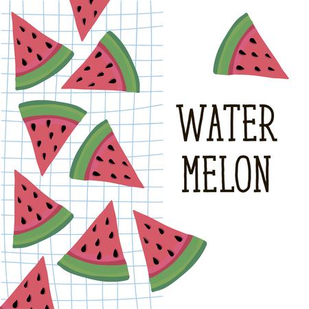 Watermelon Style Vector Illustration food fruit summer