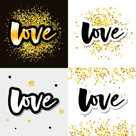 Love logo vector lettering slogan