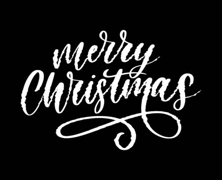 merry christmas and happy new year 2019, creative greeting card or label with glitch theme on black background vector design illustration, it can use for label, logo