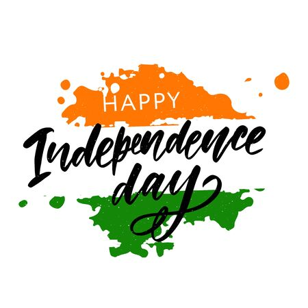 Happy Independence day India, Vector illustration, Flyer design for 15th August Ilustração