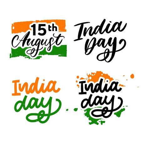 Happy Independence day India, Vector illustration, Flyer design for 15th August 일러스트