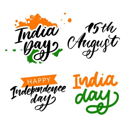 Happy Independence day India, Vector illustration, Flyer design for 15th August. Çizim