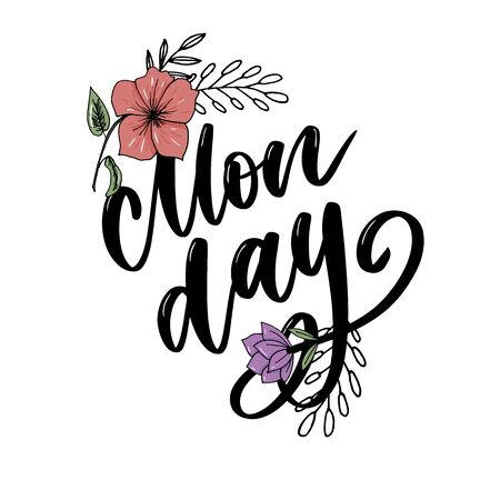 Hello Monday - inspirational lettering design for posters, flyers, t-shirts, cards, invitations, stickers banners