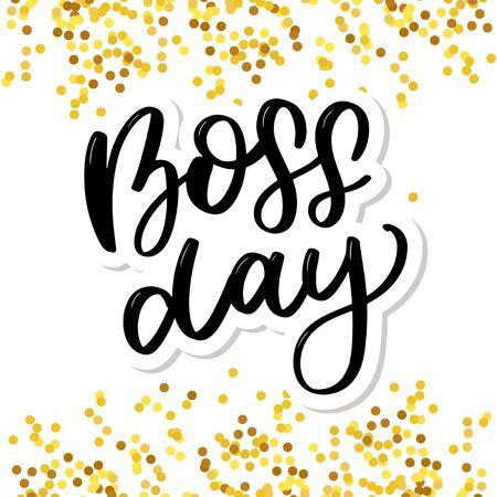 boss day vintage lettering background Stock Illustratie