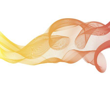 Priorità bassa del flusso d'onda swoosh high-tech futuristico di velocità elegante. Disposizione morbida moderna grigia liscia astratta del modello del fumo delicato. Vettore Vettoriali