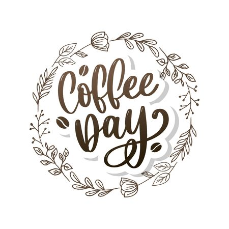 1 October International coffee day Logo. World Coffee day Logo Icon vector illustration on white