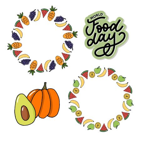 World Food Day Vector Illustration. Suitable for greeting card, poster and banner