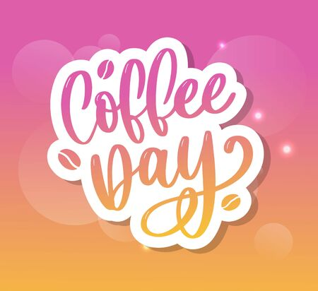 1 October International coffee day Logo. World Coffee day Logo Icon vector illustration on white