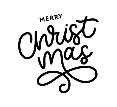 Merry Christmas gold glittering lettering design. Vector illustration Imagens - 133492238