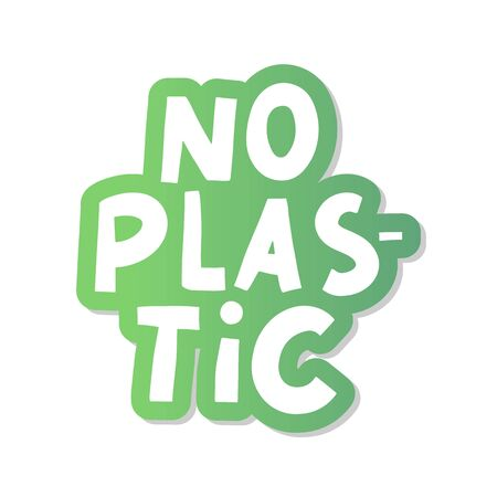 No plastic, great design for any purposes. Plastic waste vector illustration. Organic sign. 일러스트