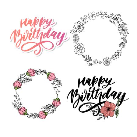 Happy birthday on colorful background. Anniversary, birthday. Happy birthday concept banner. Happy birthday, greeting card.