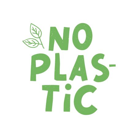 No plastic, great design for any purposes. Plastic waste vector illustration.