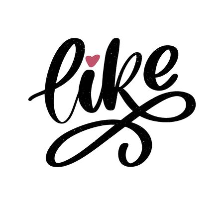 Trendy like letter, great design for any purposes. Hand drawn like letter for decorative design. Love lettering sign. Hand drawn