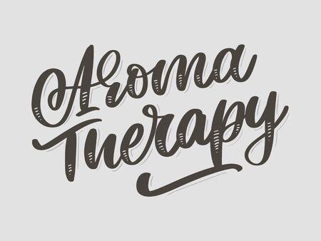 Aroma therapy letter for luxury lifestyle design. Alternative medicine. Healthy lifestyle concept. Organic Ilustração