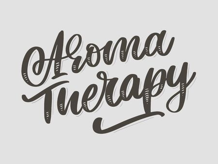 Aroma therapy letter for luxury lifestyle design. Alternative medicine. Healthy lifestyle concept. Organic Illustration